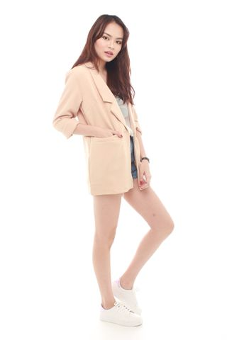 *BACK IN STOCK* Oversized Pocket Blazer in Khaki