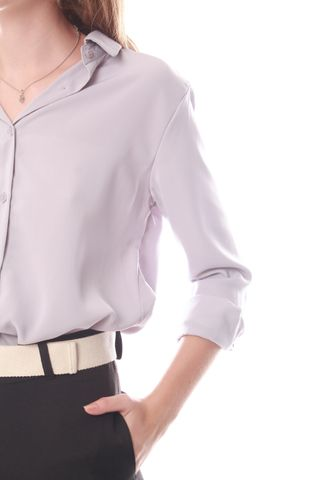 ACW Button Down Shirt in Dusty Grey