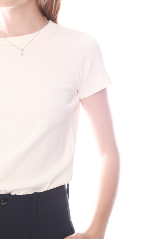 *BACK IN STOCK* ACW Basic Mod Top in White