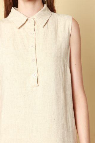 ACW Button Down Linen Dress in Khaki