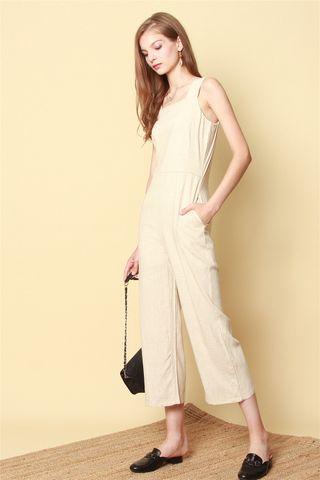 ACW Linen Jumpsuit in Khaki
