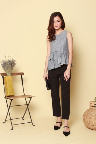 ACW Pinstripe Tiered Top in Grey