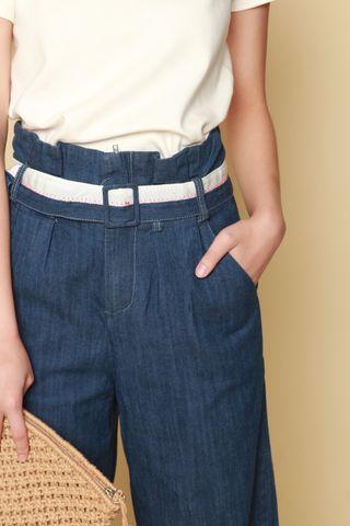 Denim Belted Culottes