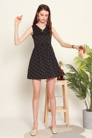 ACW Frill Babydoll Dress in Polka Dot