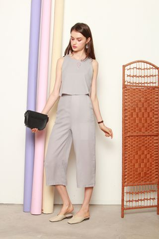Layered Jumpsuit in Dusty Grey