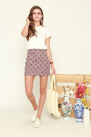 Polka Dot Skirt in Purple