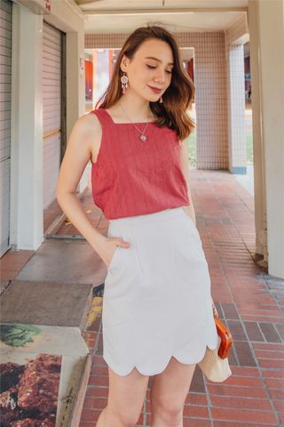 ACW Eyelet Cut In Top  in Terracotta