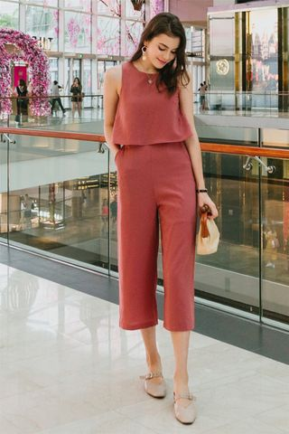 ACW Layered Jumpsuit in Terracotta