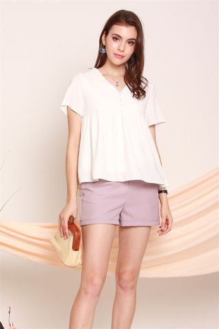 Basic Sash Pocket Shorts in Dusty Pink