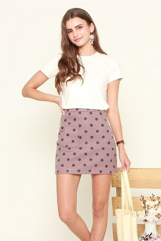Polka Dot Skirt in Purple