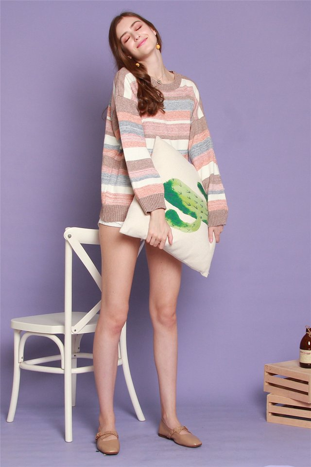 *BACK IN STOCK* Pastel Soft Knit Sweater in Mauve