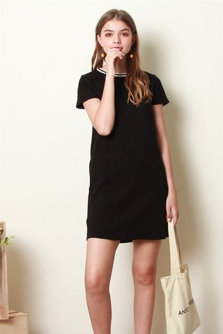 ACW Sports Rim Tee Dress in Black