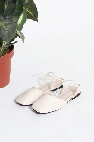 *Backorder* Double Strap Two Way Sliders in White