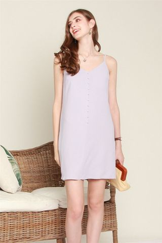ACW Button Cami Dress in Dusty Grey