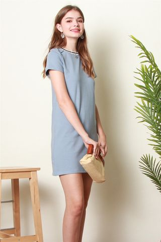 ACW Sports Rim Tee Dress in Ash Blue