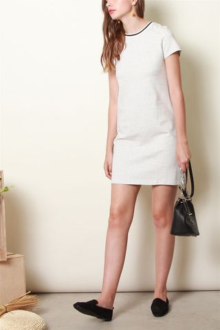 ACW Sports Rim Tee Dress in Light Grey
