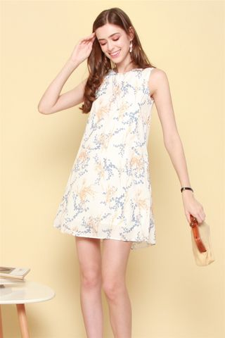 ACW Wheat Floral Trapeze Dress