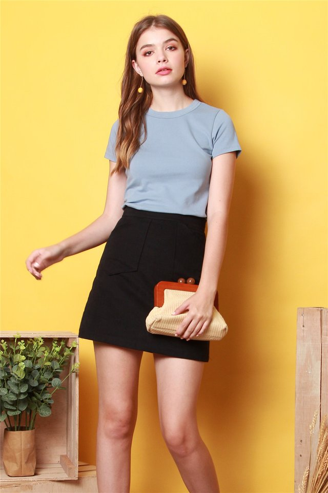 *BACK IN STOCK* ACW Basic Mod Top in Steel Blue
