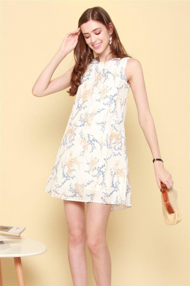 ACW Wheat Floral Trapeze Dress