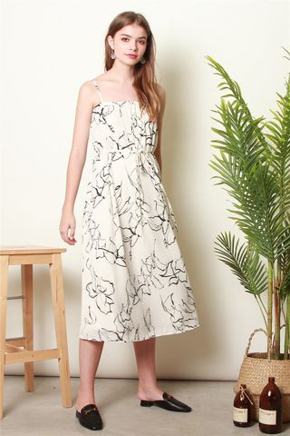 Printed Monochrome Tent Dress