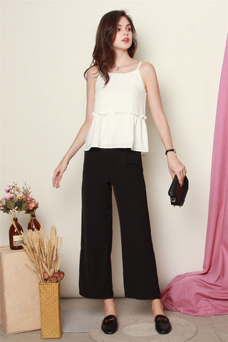 *BACK IN STOCK* High Waisted Flare Pants in Black