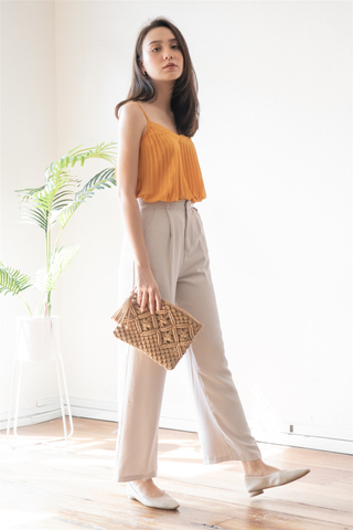 *Backorder* High Waisted Flare Pants in Ivory