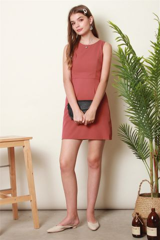 ACW Classic Sheath Dress in Rose