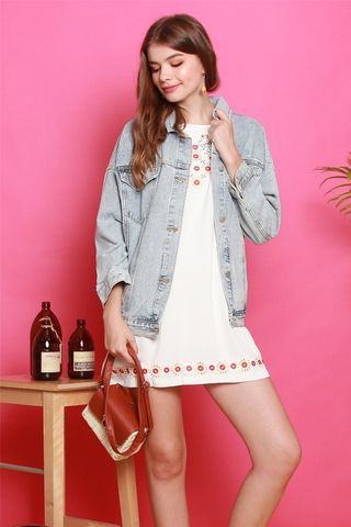 *BACK IN STOCK* Light Wash Oversized Denim Jacket