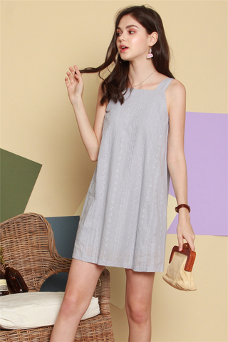 ACW Eyelet Panel Cut in Dress in Dusty Grey