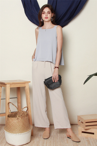 ACW Basic Cut In Top in Dusty Grey