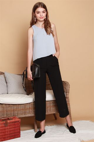 High Waisted Flare Pants in Black