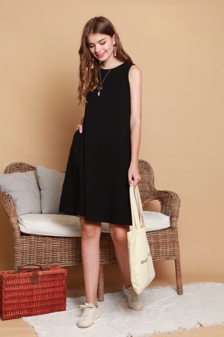 ACW Knit Basic Midi Dress in Black