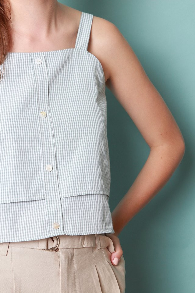 ACW  Gingham Strap Tier Top in Mint