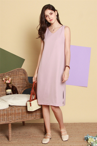 ACW Two Way Colourblock Midi Dress in Navy-Pink