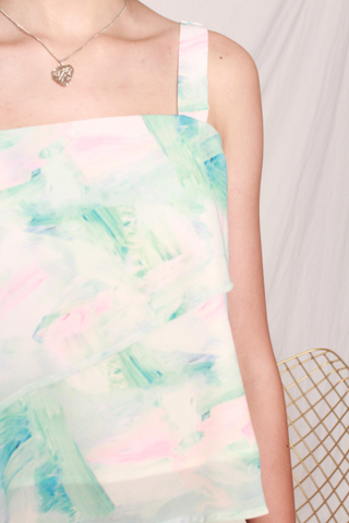 Ombre Double Layered Top in Mint
