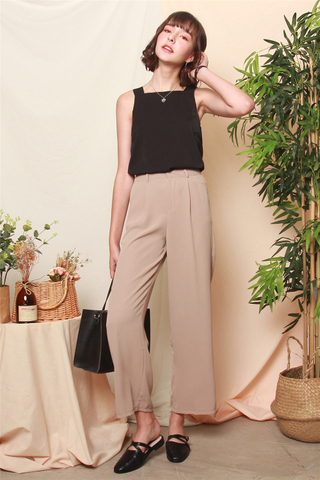 High Waisted Flare Pants in Khaki