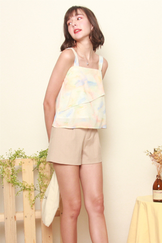 Ombre Double Layered Top in Daffodil