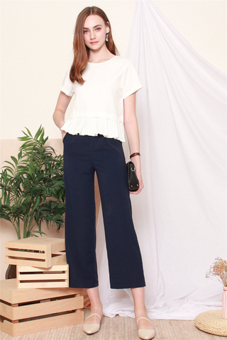 *Backorder* High Waisted Flare Pants in Navy