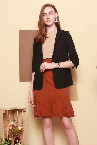 *Backorder* Basic Soft Tweed Oversized Blazer in Black