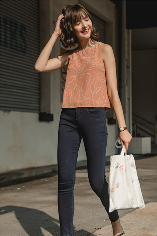 ACW Printed Shell Top in Rust