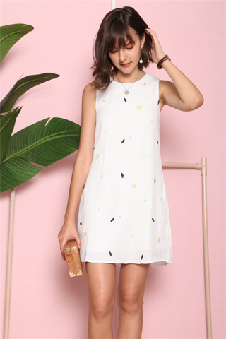 *BACK IN STOCK* ACW Rain or Shine Embroidery Trapeze Dress