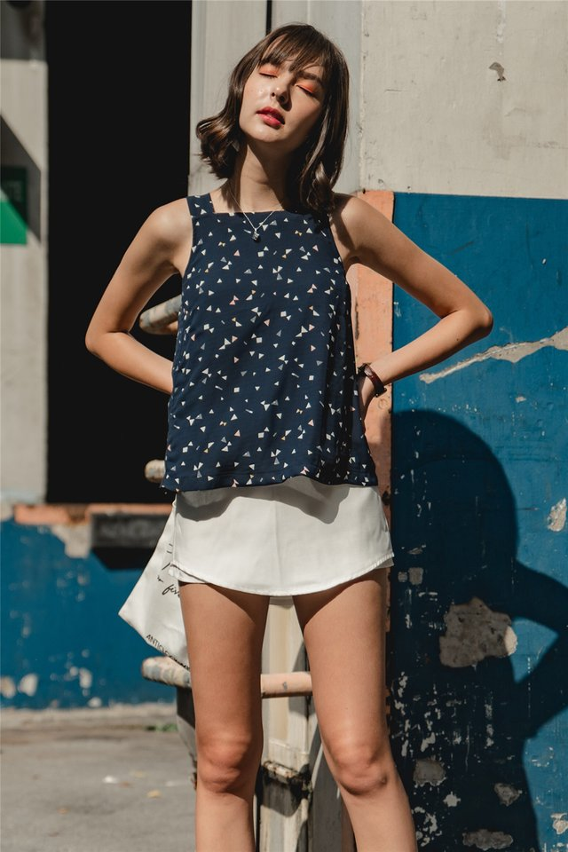 *Backorder* ACW Basic Cut In Top in Navy Terrazzo