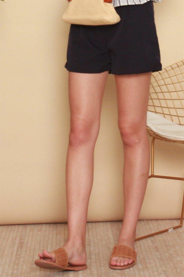 Weave Rattan Strap Sandals in Brown