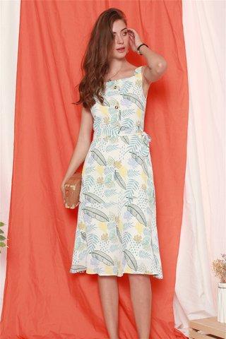 Ode to Summer Midi Dress in Daffodil