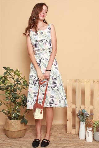 Ode to Summer Midi Dress in Blue