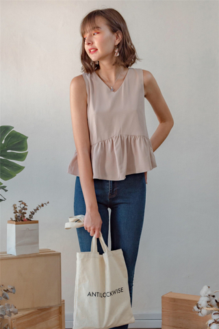 ACW Babydoll Angled Top in Sand