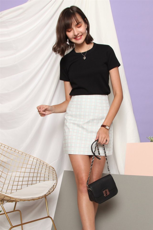 Coloured Gingham Skirt in Mint