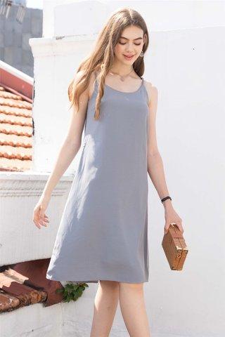 ACW Basic Midi Slip Dress in Grey
