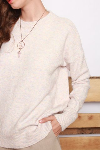 *Arriving on 17th Oct* Coloured Speckle Knit Sweater in Dusty Pink