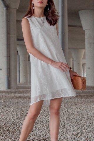 ACW Eyelet Panels Trapeze Dress in White